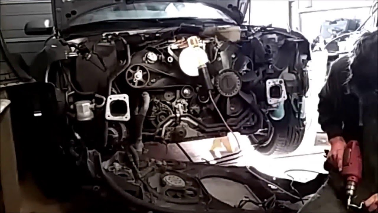 01 Audi A4 Quattro Waterpump Replacement Time Lapse 1 2 Youtube