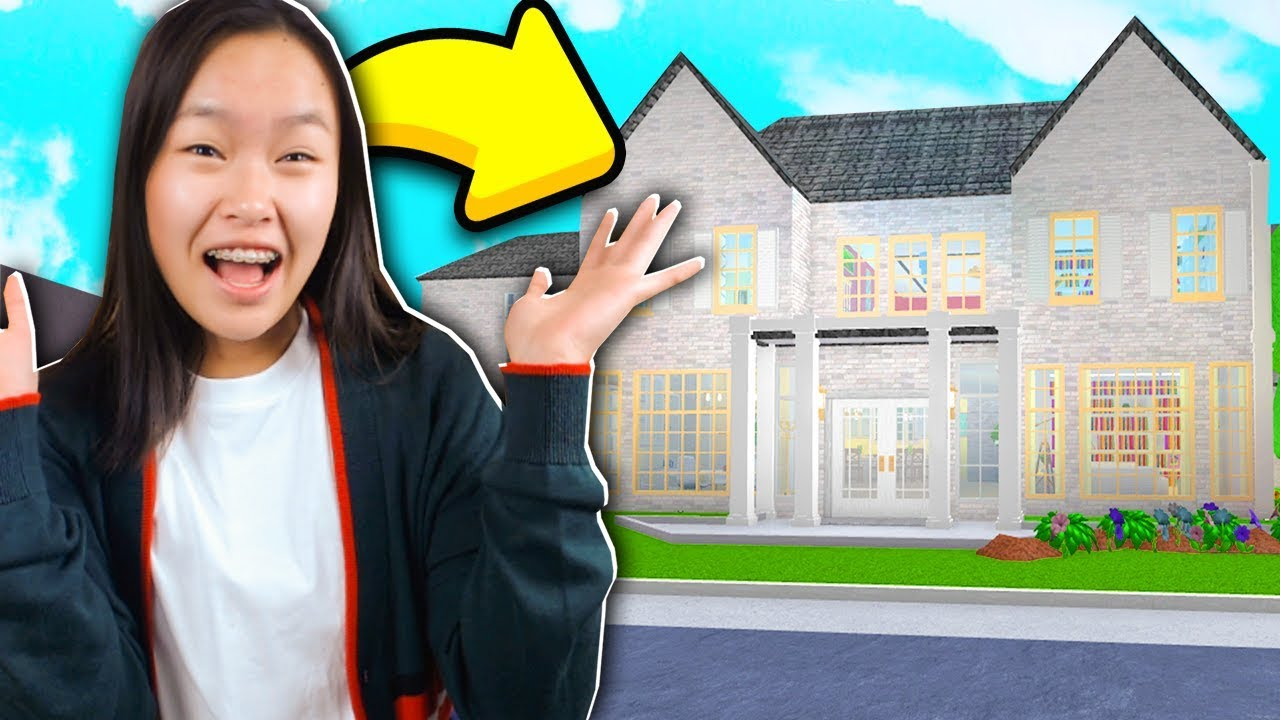 I Spent 24 Hours In Someones House Roblox Bloxburg Youtube - My Roblox Bloxburg Secret Mansion Tour Youtube