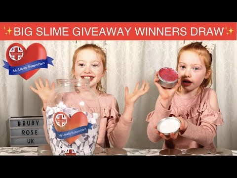 Winner Draw Announcement  Giant Ruby Rose UK Slime Giveaway  Ruby Rose UK