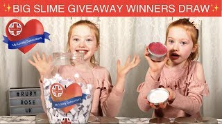 Winner Draw Announcement | Giant Ruby Rose UK Slime Giveaway | Ruby Rose UK