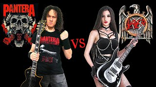 PANTERA VS SLAYER | GROOVE METAL VS THRASH METAL (Guitar Riffs Battle) cover