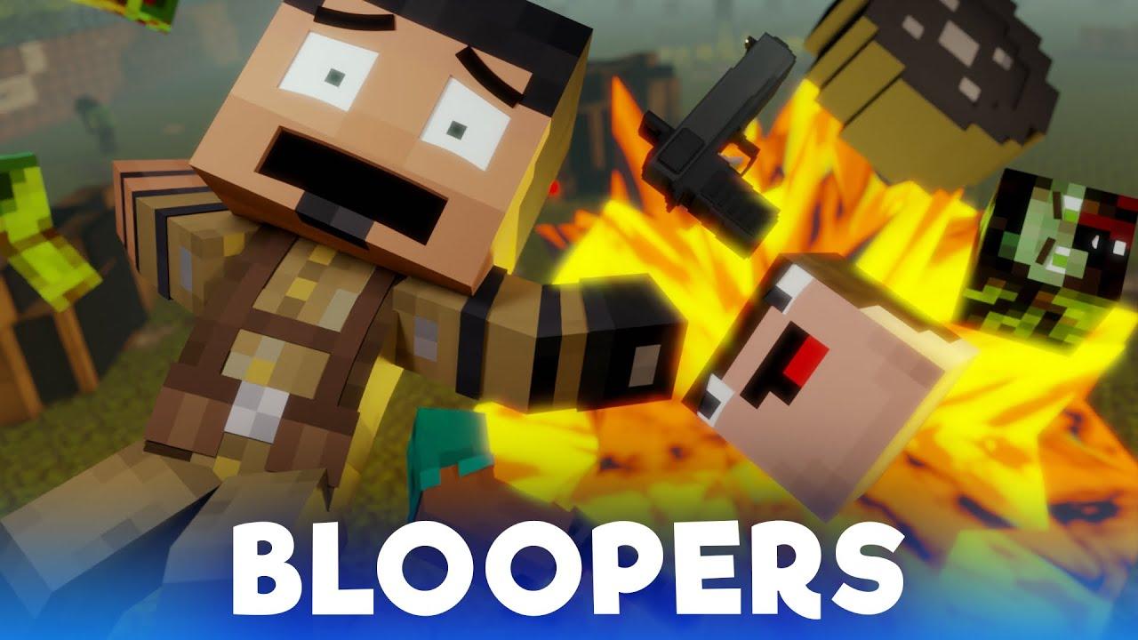 Zombie Apocalypse: BLOOPERS (Minecraft Animation)