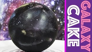 3D Galaxy Cake + DIY Galaxy Sprinkle Mix Surprise Inside | My Cupcake Addiction