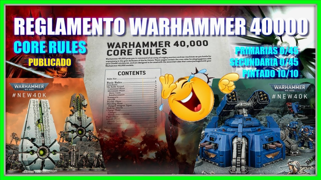 REGLAMENTO 9th Edition ⭐ WARHAMMER 40000 ⭐ (FILTRACION)