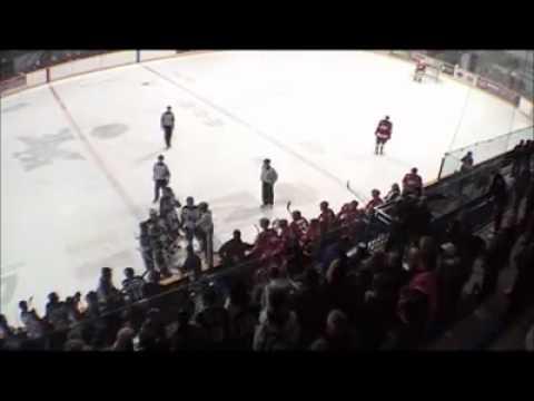 Weyburn Red Wings vs Kindersley Klippers Sword Fight 2011