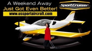 SportCruiser, U.S. Sport Aircraft's Sport Cruiser durable two seat light sport aircraft trainer.