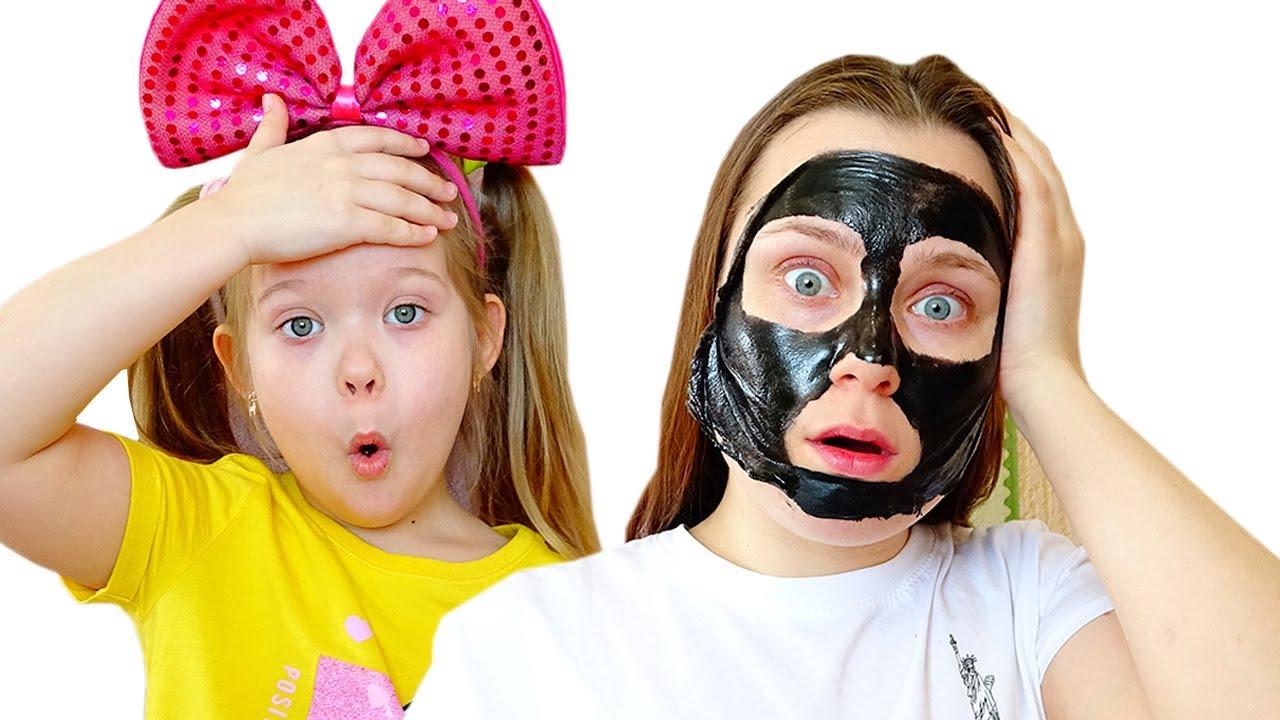 Лера показывает маме как превратилась | Мое лицо и руки черные
