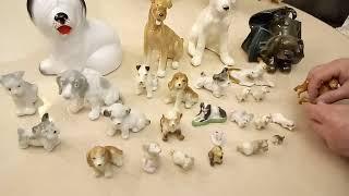 Коллекция фарфоровых собак