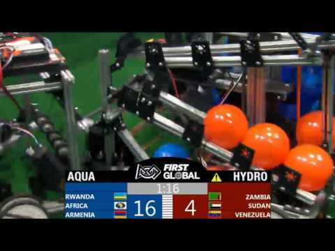 Team Armenia Robot In Action at FIRST Global Challenge