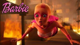Супер принцесса. Спасение из огня! Мультфильм Барби для девочек
