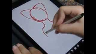 Nicki draws on her new iPad