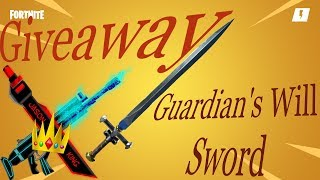Giveaway Free Guardian's Will Sword Fortnite Save The World Live 🔴 Support A Creator ID Jasonking5