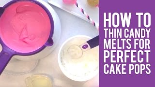 how to melt chocolate for cake pops