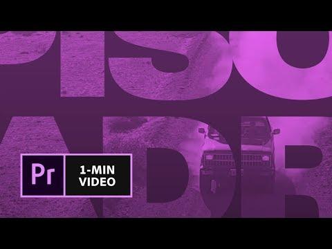 Création d'un générique de film dans Premiere Pro | Adobe France