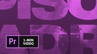 Création d'un générique de film dans Premiere Pro   Adobe France