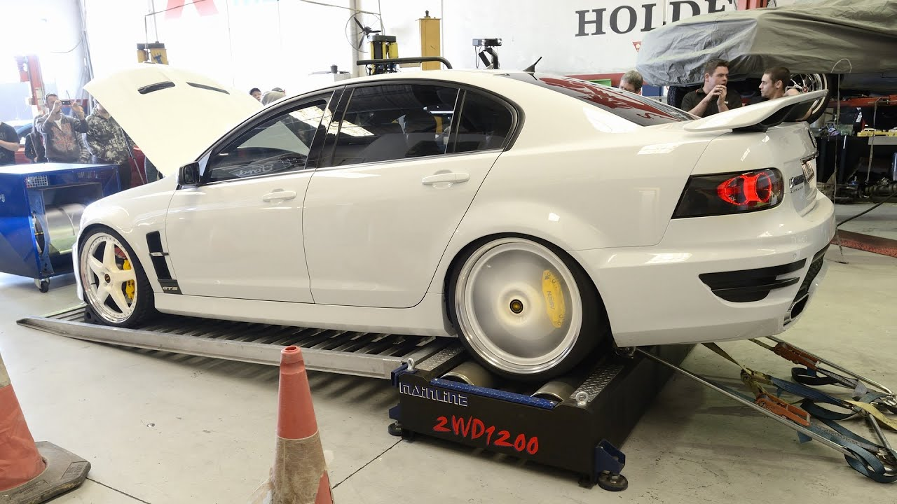 Supercharged HSV GTS dyno