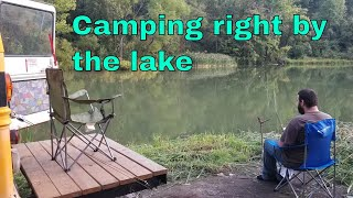 Camping at a FREE Campsite RIGHT BY THE LAKE