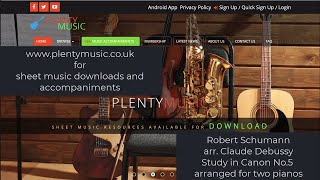 Schumann R. arr. Debussy C.   Study in Canon No.5  two pianos