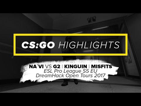 CS:GO Highlights Na`Vi vs G2, Kinguin, Misfits @ ESL Pro League S5, DH Open Tours 2017