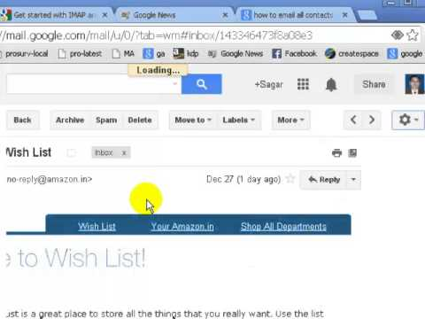 How to forward multiple emails on gmail
