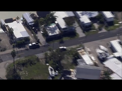 Aerial Footage Shows Key Largo Damage from Irma