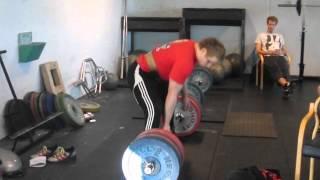 Kristoffer Eikeland - Markløft 300kg raw