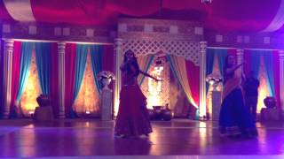 Wedding dance performance on Ghagra