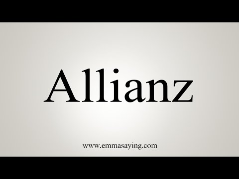 How To Pronounce Allianz