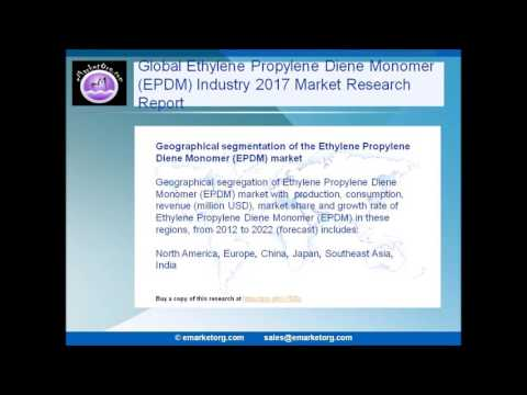 Ethylene Propylene Diene Monomer  Market (EPDM) Features, Grow Pricing, and Revenue to 2022