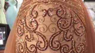 Rex Fabrics Beautiful Heavily Embroidered Crystal Tulle. Thumbnail