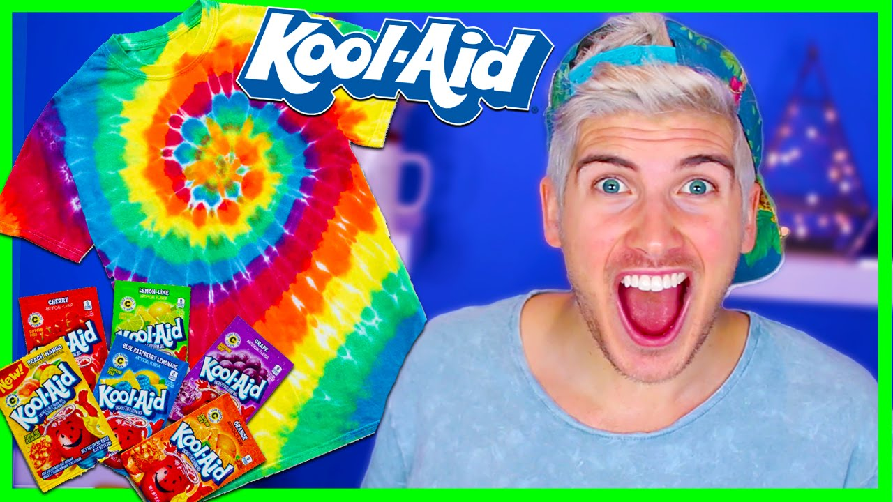 Kool aid tie dye pinterest test youtube for How do you dye a shirt