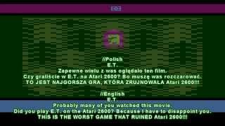 E.T. The Extra-Terrestrial - E.T. - Worst game on the Atari 2600 - Review - User video