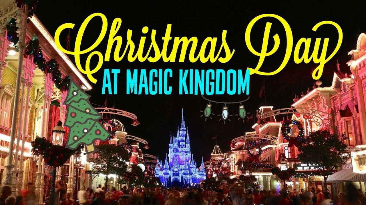 magic kingdom on christmas day 12252017