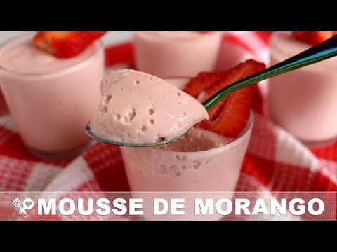 MOUSSE DE MORANGO COM FRUTA DE VERDADE - RECEITAS QUE AMO