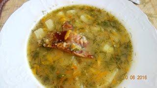 Быстрый гороховый суп с копчеными ребрами. Супер рецепт - Пальчики оближешь!