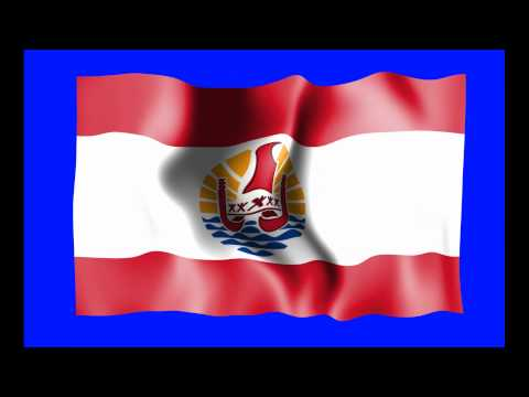 French Polynesia Waving Flag Green Screen Animation - Free Royalty Footage