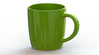 SolidWorks Tutorial #178: Mug - (spline)
