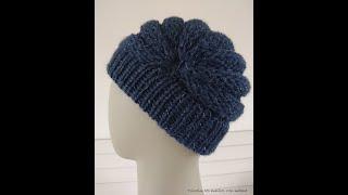 Réaliser un bonnet original au point de godron au tricotin géant