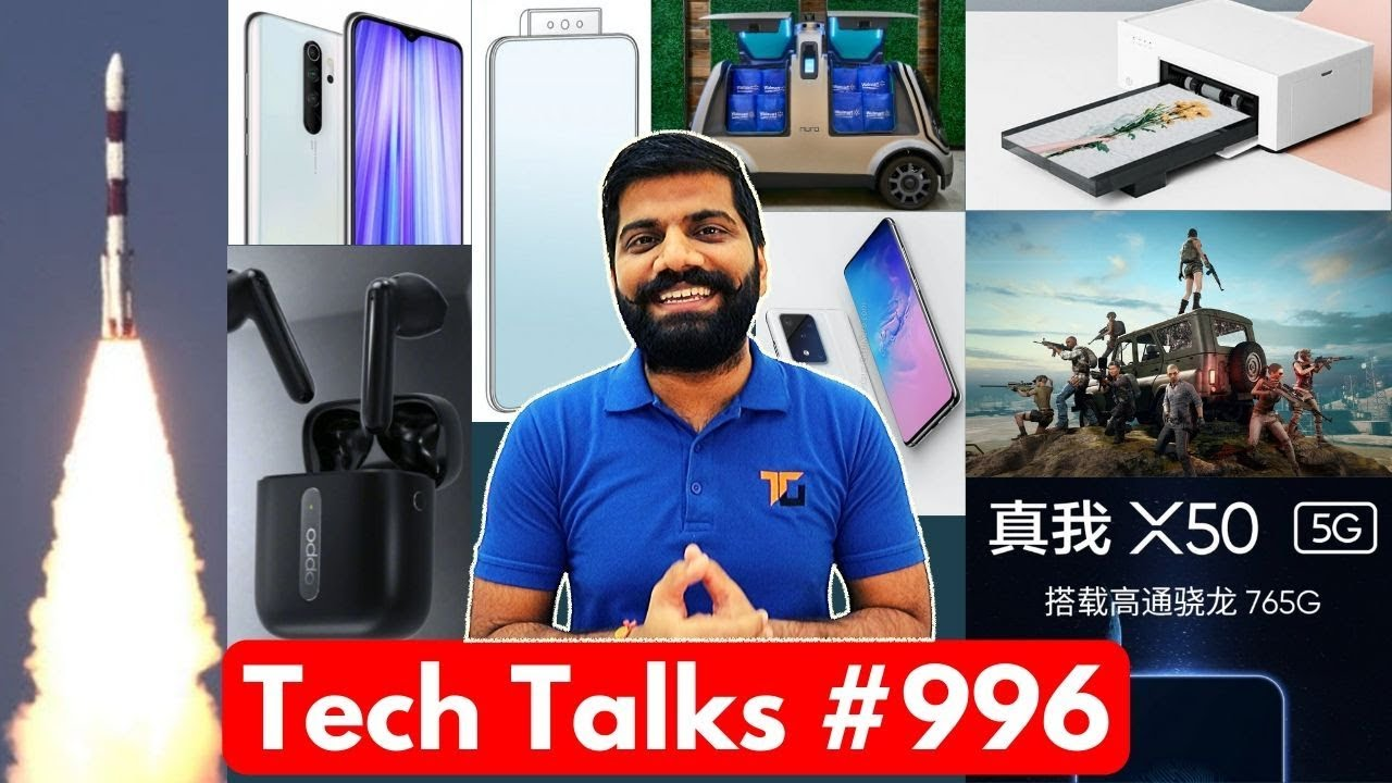 Tech Talks # 996 - Lancement de Redmi Note 9, PUBG Death, Whatsapp Ban, Oppo Reno 3, ISRO Success + vidéo