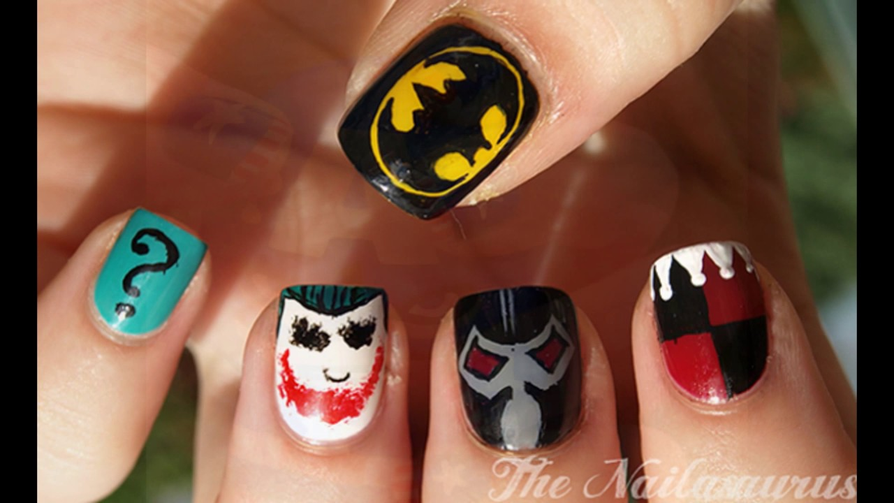 comic book nail art - Comic Book Nail Art - YouTube