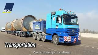 EGL - Loading & Heavy Transport of a fibre-flow for Euro-paper factory Cairo, Egypt