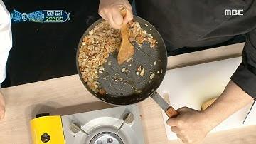 """[백파더 : 요리를 멈추지 마!] """"한쪽으로 밀면 기름이 쑥~"""" 백파더가 알려주는 꿀팁?! 잘 볶아진 상태 확인하는 법..⭐, MBC 210109 방송"""