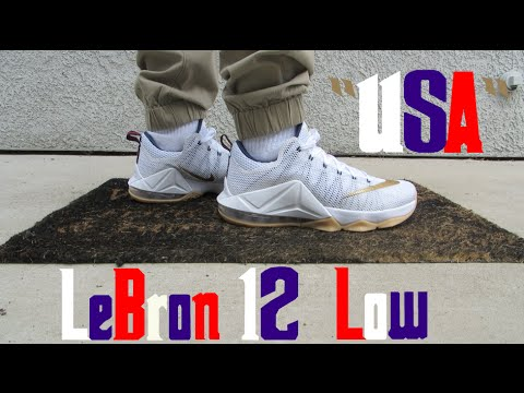 83428ded589 shop lebron 12 low usa w on feet review c18e4 95963