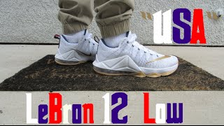 lebron 12 low usa w on feet review