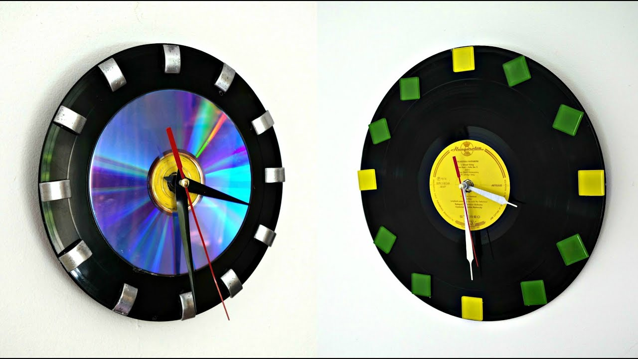 2 Creative Wall Clock Ideas from Vinyl and CD | Best out of waste | Maison Zizou