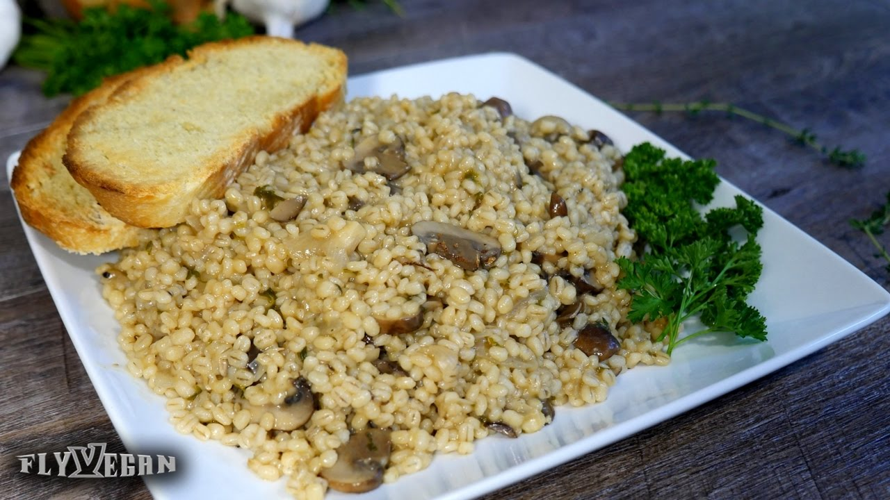 Three-Mushroom and Barley Pilaf