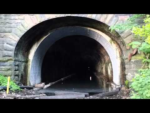 Abandon railroad tunnel in Edgewater/Fairview N.J.