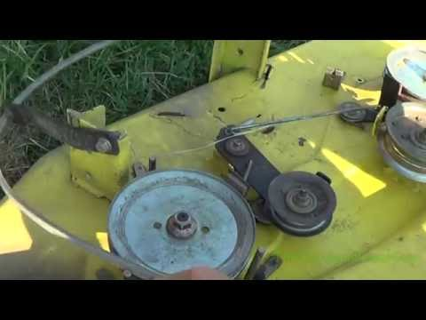 belt diagram d110 john deere la110 42 inch deck belt routing installation youtube  john deere la110 42 inch deck belt
