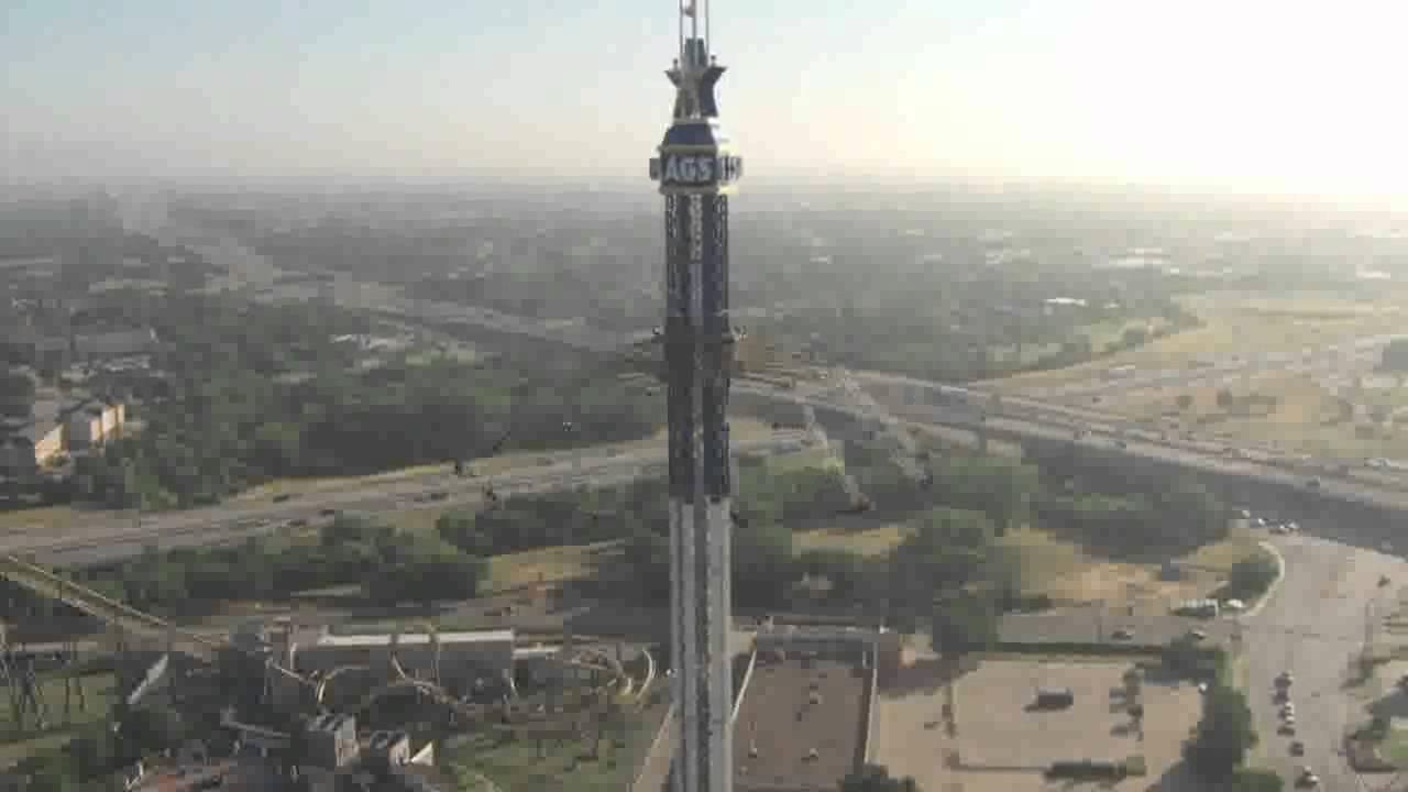 La giostra pi alta del mondo texas skyscreamer youtube for Statua piu alta del mondo