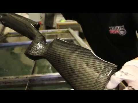 VisionProCoating com Hydro Dipping Carbon Fiber on a McMillan Stock
